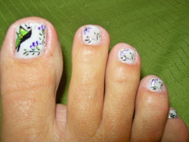 unha do pé bonita