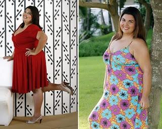 Fabiana Karla antes e depois da redução de estomago