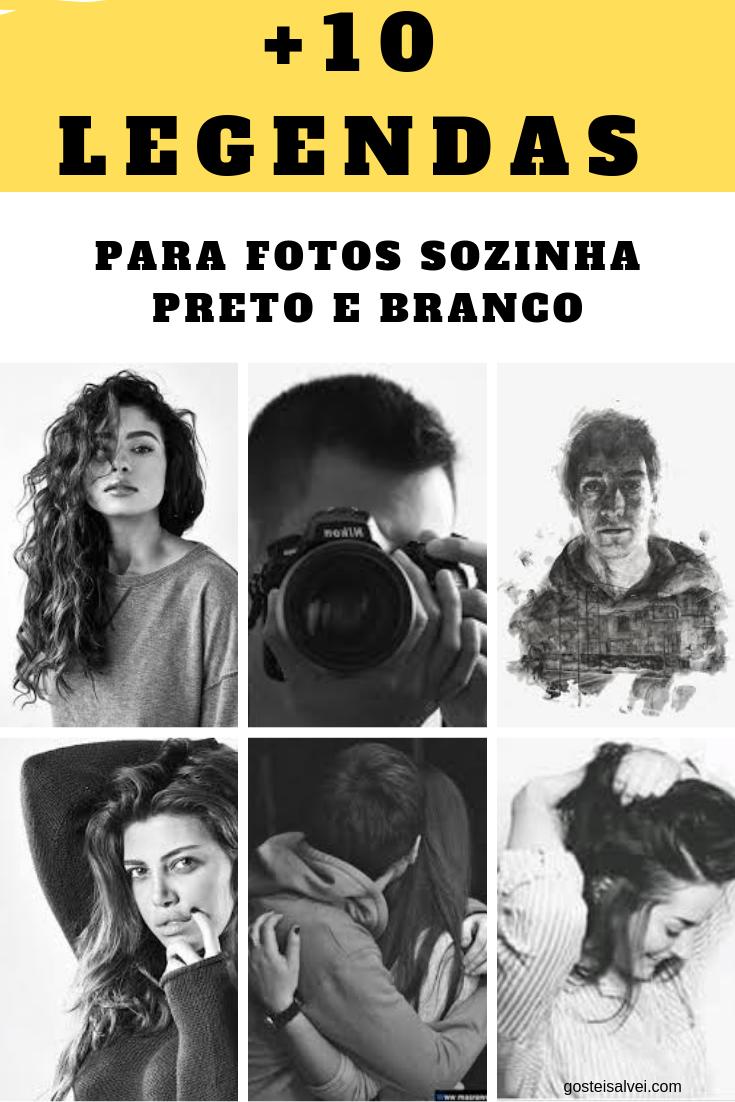 +10 Legendas Para Fotos Sozinha Preto e branco