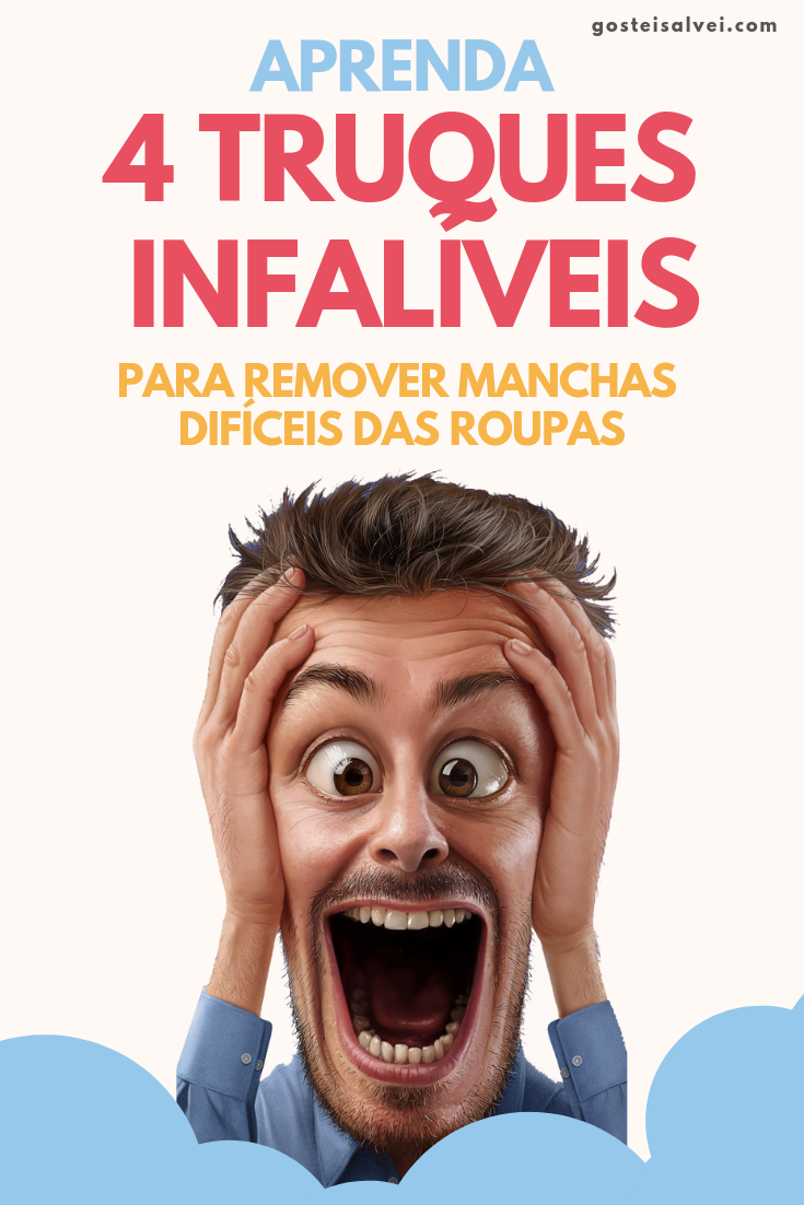 You are currently viewing 4 Truques Infalíveis Para Remover Manchas Difíceis Das Roupas