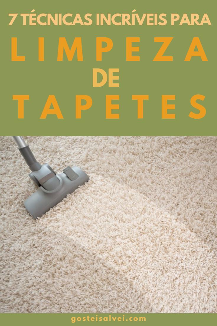 7 Técnicas Incríveis Para Limpeza De Tapetes