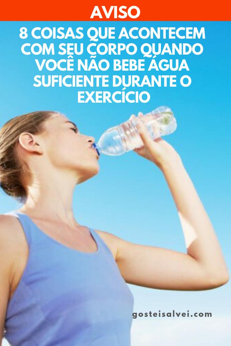 8 Coisas Que Acontecem Com Seu Corpo Quando Você Não Bebe Água Suficiente Durante o Exercício
