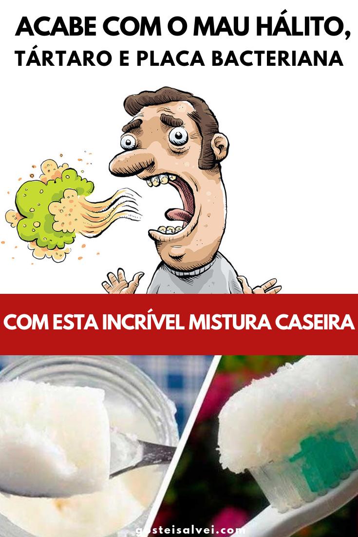 You are currently viewing Acabe Com o Mau Hálito, Tártaro e Placa Bacteriana Com Esta Incrível Mistura Caseira