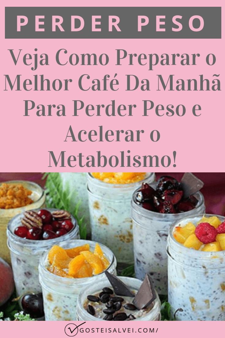 Veja Como Preparar o Melhor Café Da Manhã Para Perder Peso e Acelerar o Metabolismo!