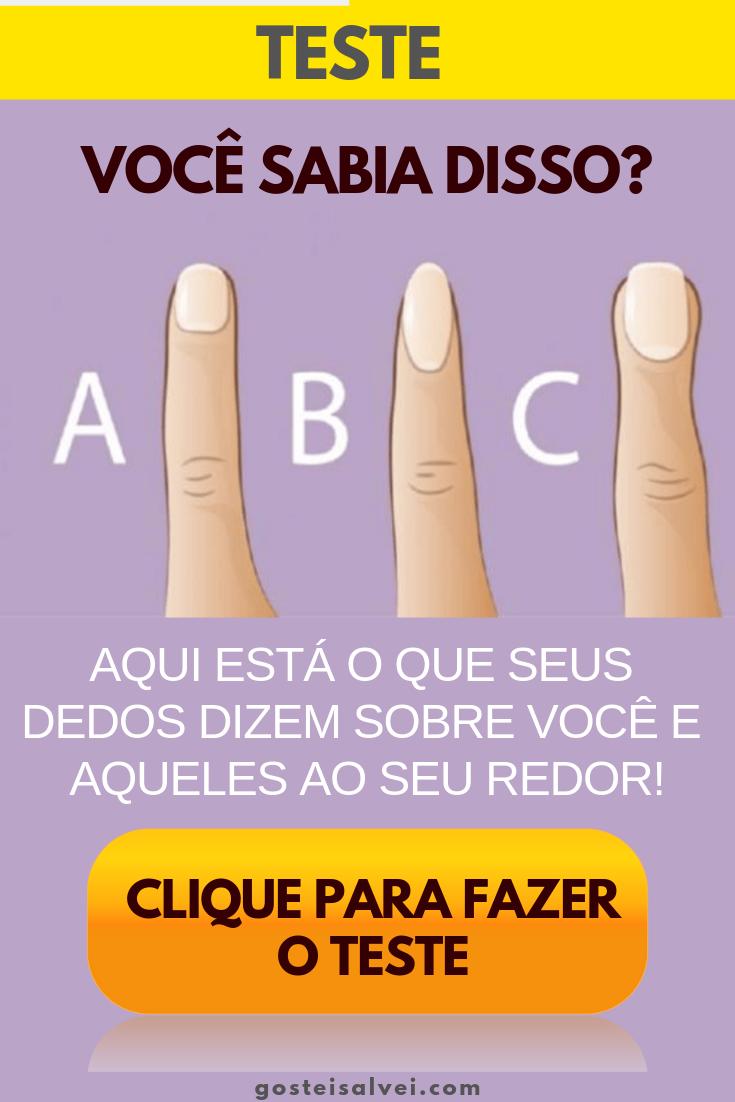 Você sabia disso? Aqui está o que seus dedos dizem sobre você e aqueles ao seu redor!
