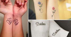 15 Desenhos De Tatuagem Para Irmãs Inseparáveis