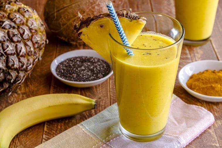 Elimine a Gordura Da Barriga Com Essa Poderosa Bebida De Abacaxi e Banana! É incrível como funciona!