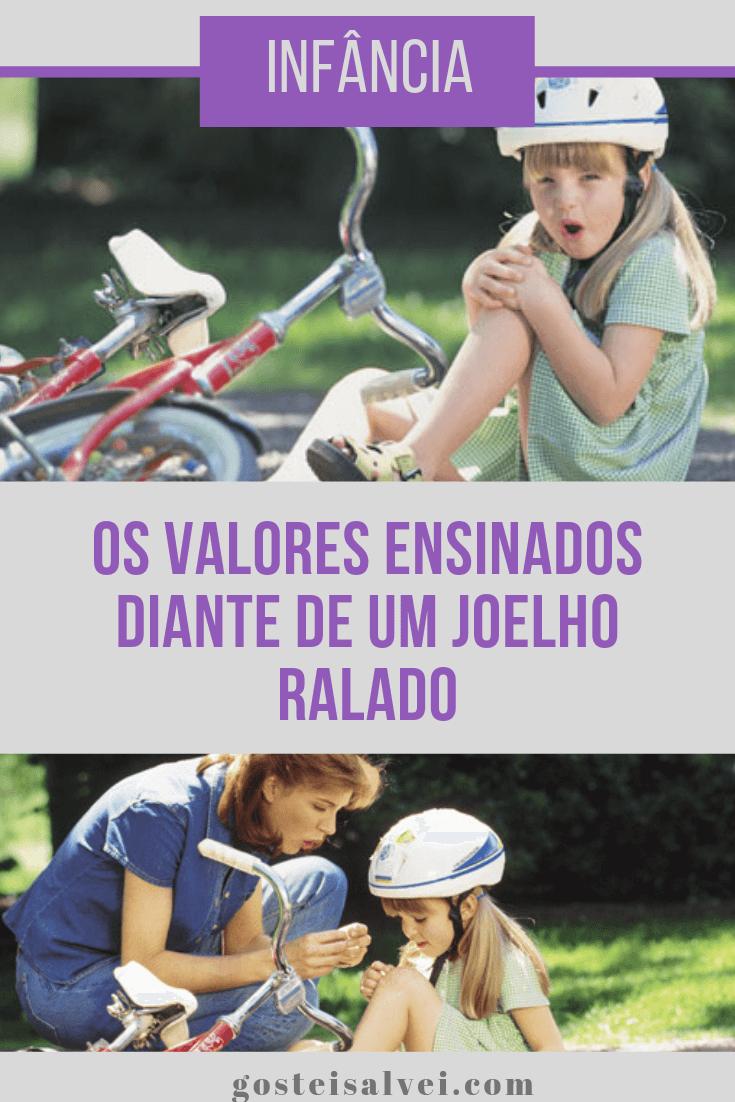 Infância – Os valores ensinados diante de um joelho ralado