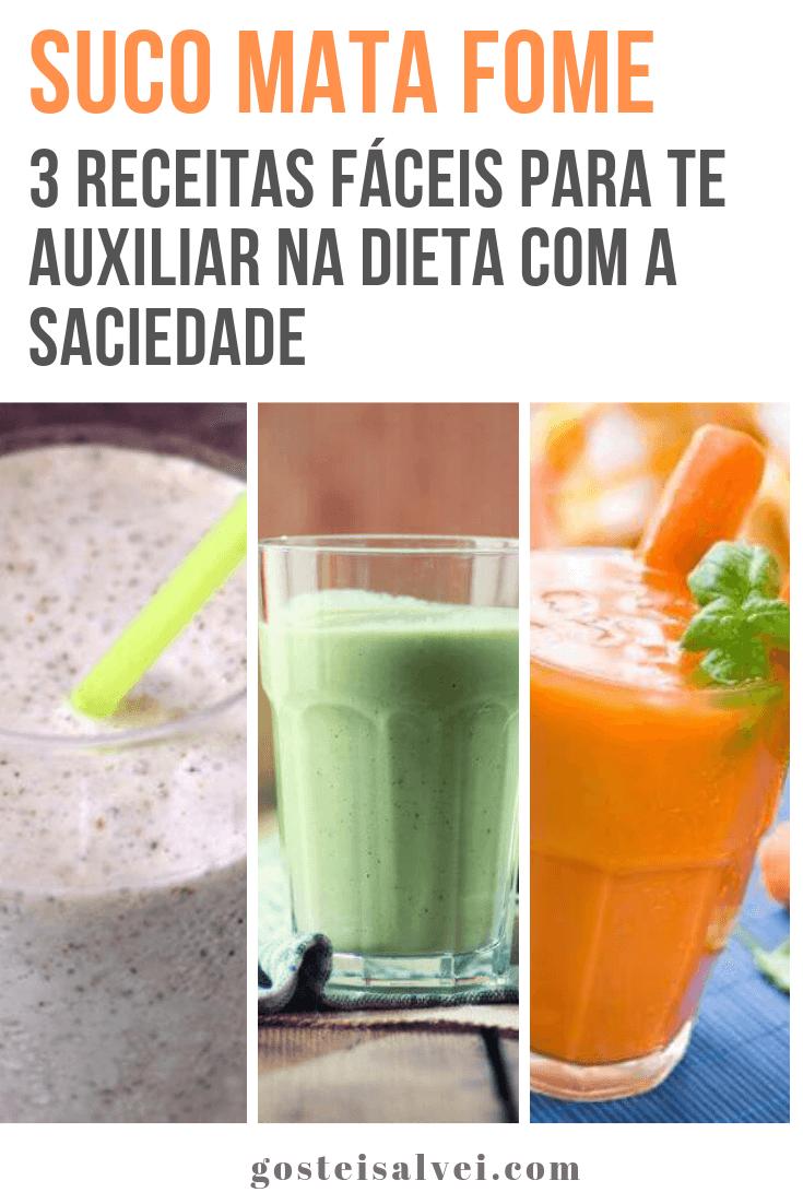 Suco mata fome 3 receitas fáceis para te auxiliar na dieta com a saciedade