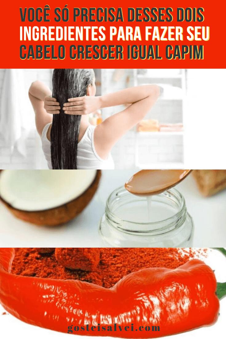 Você só precisa desses dois ingredientes para fazer seu cabelo crescer igual capim