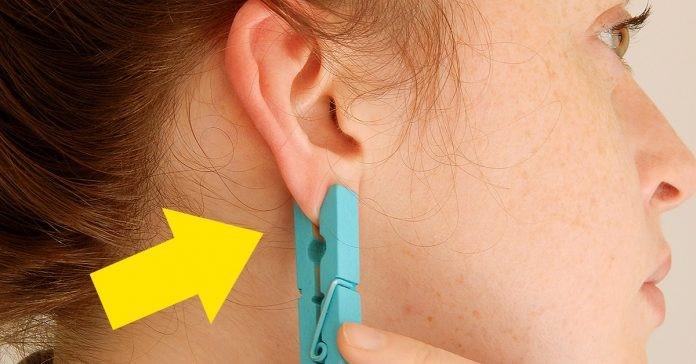 Aliviar dores é muito fácil, basta colocar um prendedor na orelha – Confira!
