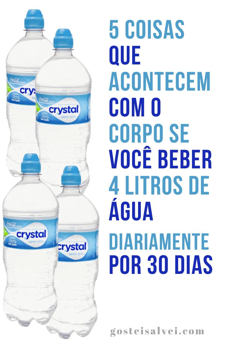 5 Coisas que acontecem com o corpo se você beber 4 litros de água diariamente por 30 dias
