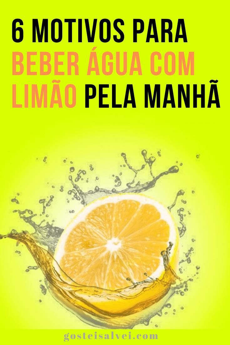 6 Motivos para beber água com limão pela manhã