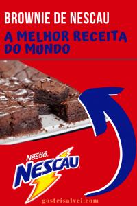 Brownie de Nescau – A melhor receita do mundo