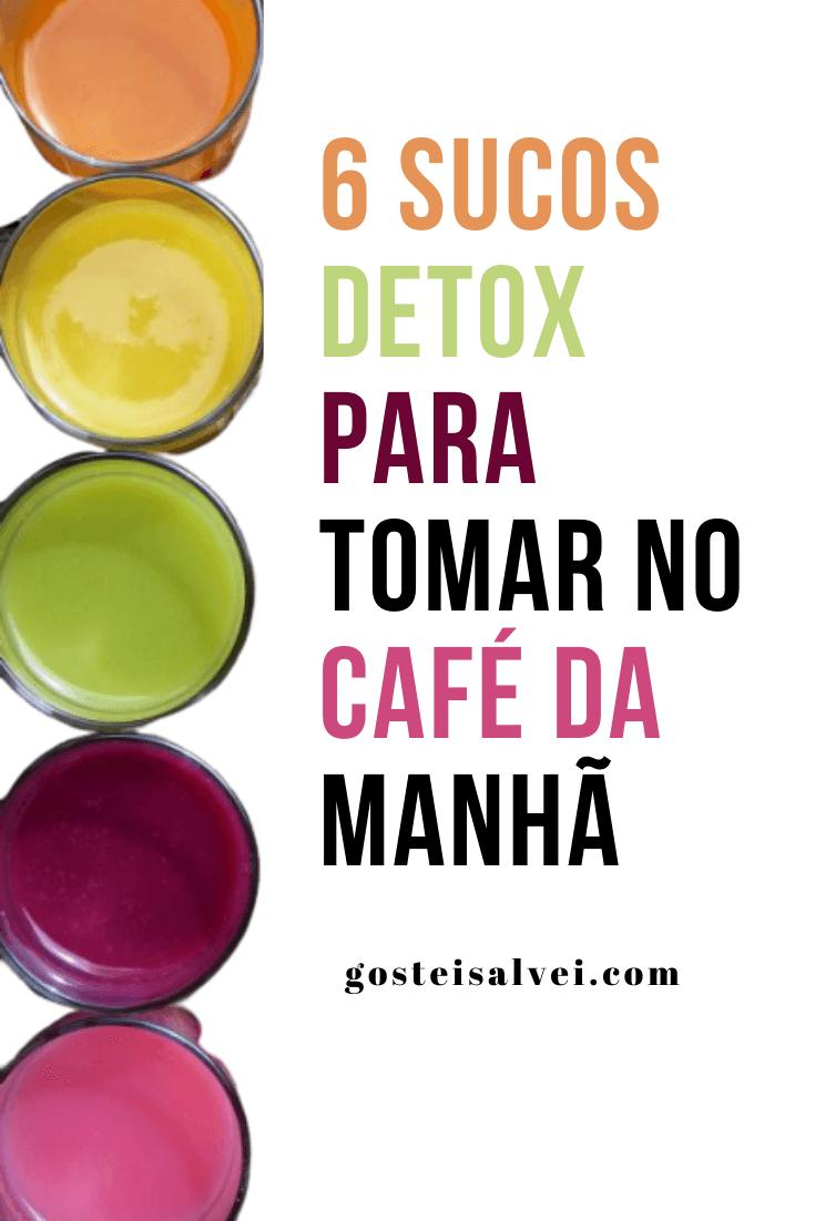 6 Sucos Detox para tomar no café da manhã