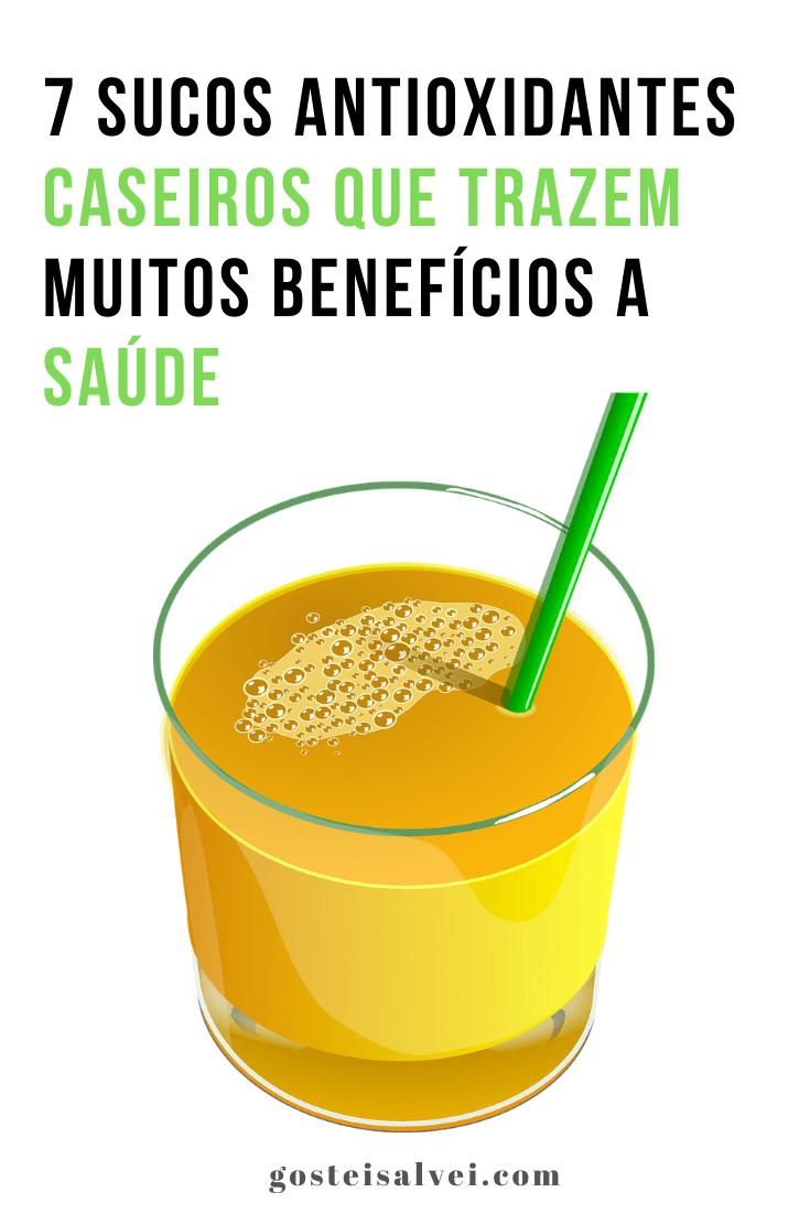7 Sucos Antioxidantes Caseiros Que Trazem Muitos Benefícios a Saúde