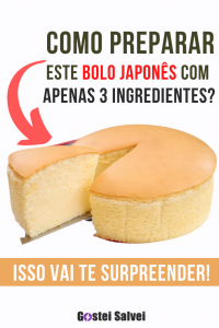 Como preparar este bolo japonês com apenas 3 ingredientes? Isso vai te surpreender!