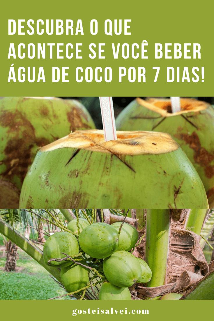 Descubra o que acontece se você beber água de coco por 7 dias!