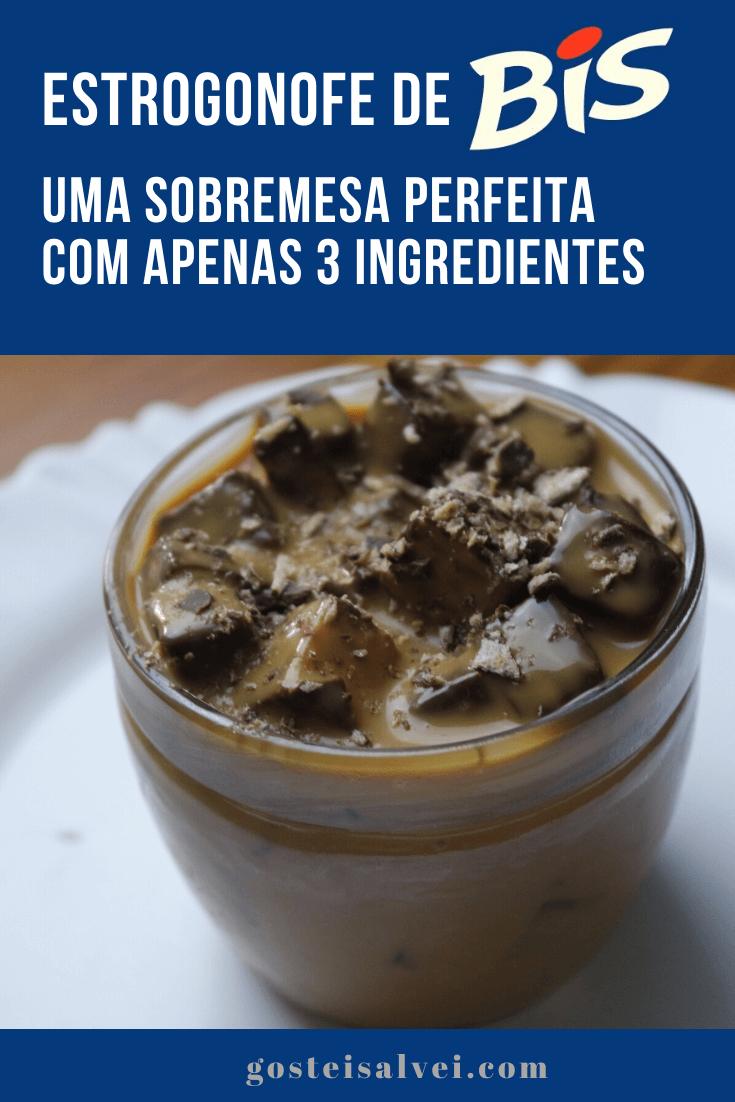 Estrogonofe de bis – Uma sobremesa perfeita com apenas 3 ingredientes