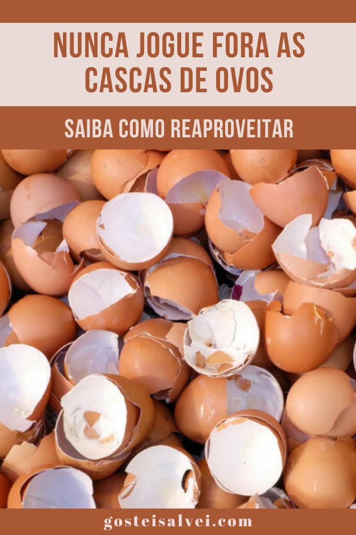 Nunca jogue fora as cascas de ovos! Veja como reaproveitar!