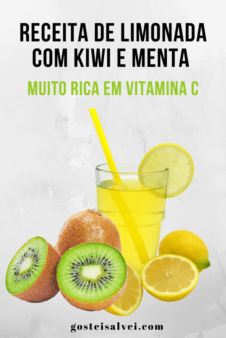 Receita de limonada com kiwi e menta – Muito rica em vitamina C