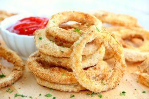 Receita de anéis de cebola – Fácil e saudável