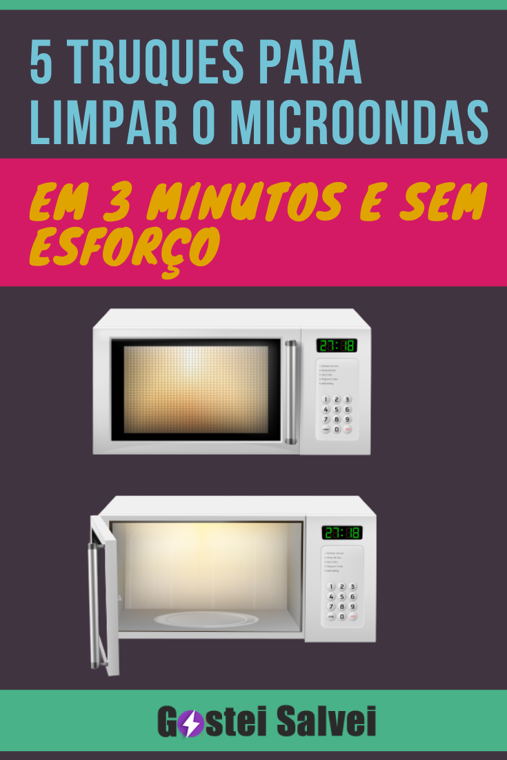 You are currently viewing 5 Truques para limpar o microondas em 3 minutos e sem esforço