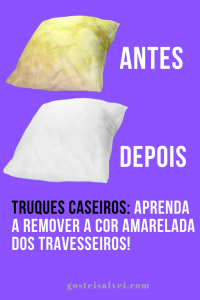 Truques caseiros: Aprenda a remover a cor amarelada dos travesseiros!