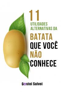 11 Utilidades alternativas da batata que você não conhece