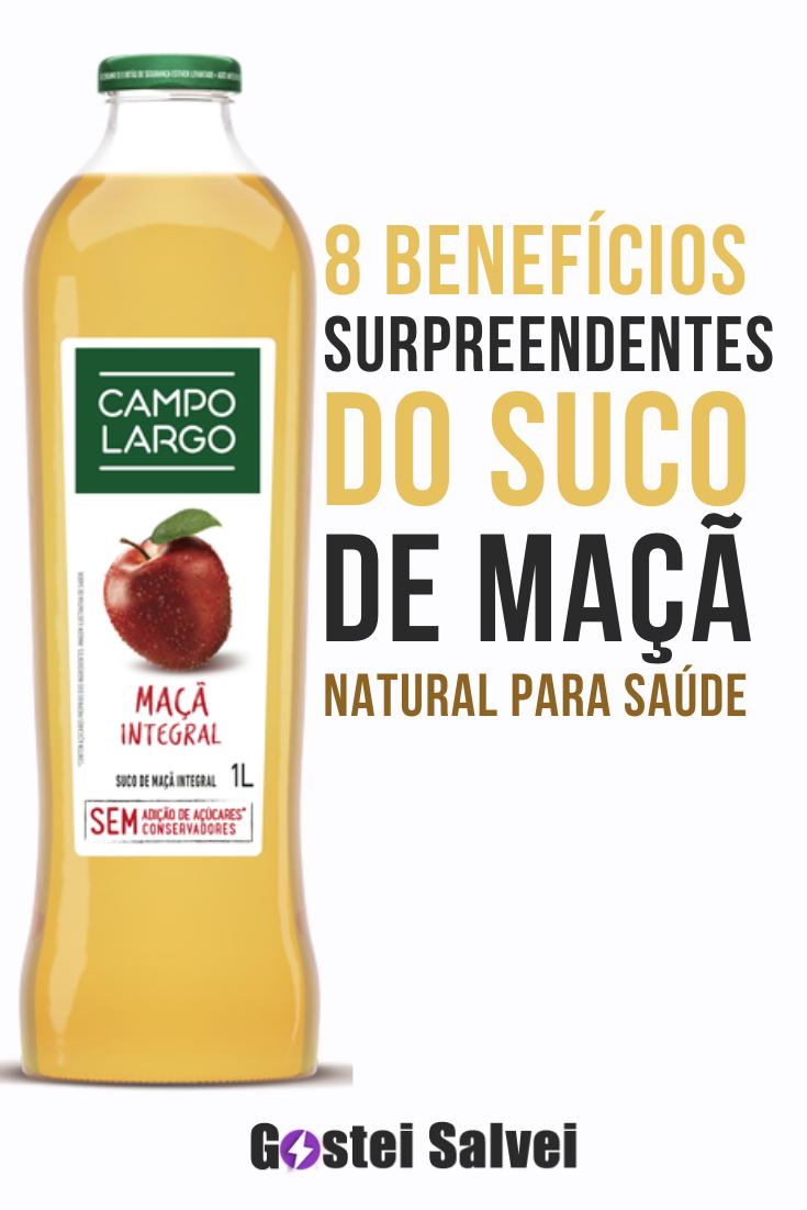 8 Benefícios surpreendentes do suco de maçã natural para saúde