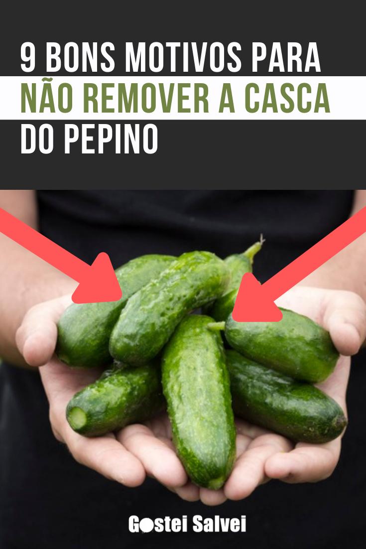 You are currently viewing 9 Bons motivos para não remover a casca do pepino