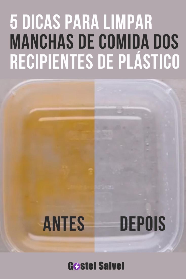 5 Dicas para limpar manchas de comida dos recipientes de plástico