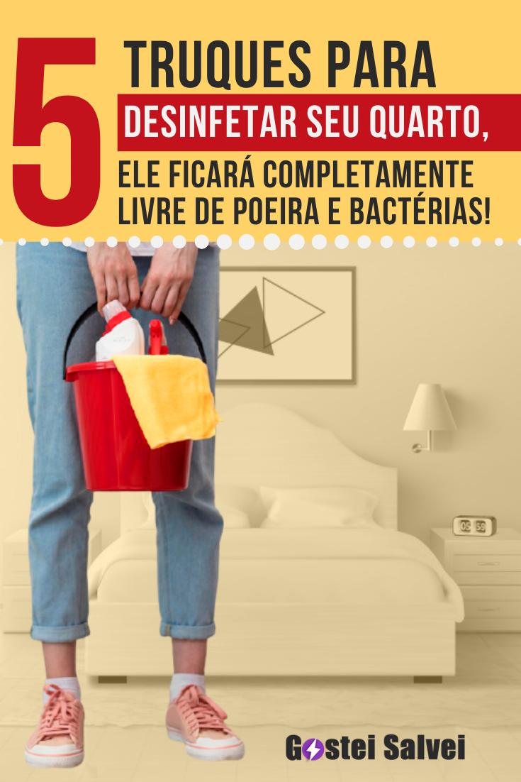 You are currently viewing 5 Truques para desinfetar seu quarto, ele ficará completamente livre de poeira e bactérias!