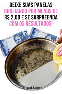 Deixe suas panelas brilhando por menos de R$ 2,00 e se surpreenda com os resultados!