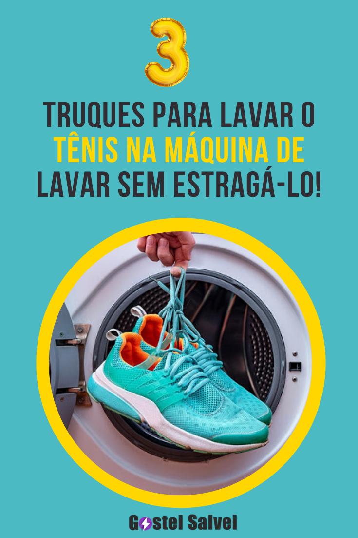 3 Truques para lavar o tênis na máquina de lavar sem estragá-lo!