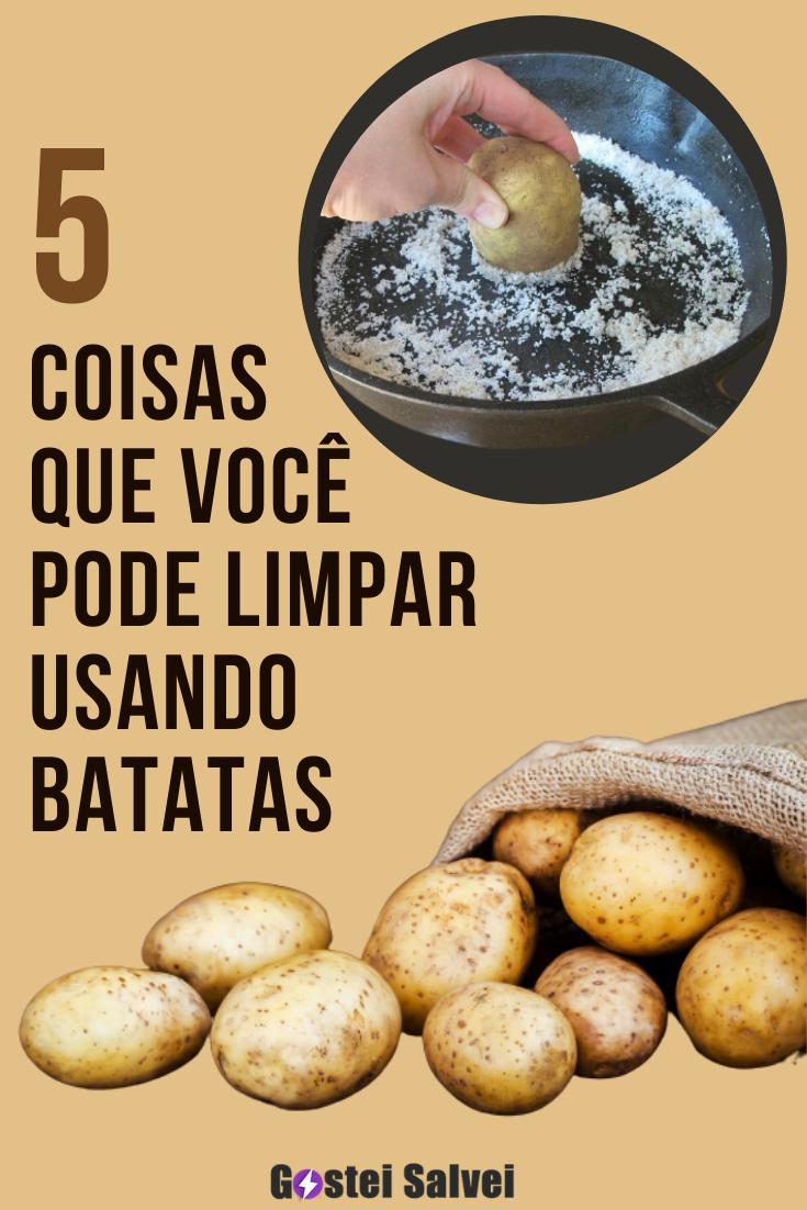 5 Coisas que você pode limpar com batatas