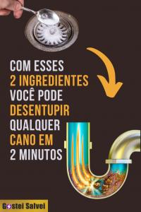 Com esses 2 ingredientes você pode desentupir qualquer cano em 2 minutos