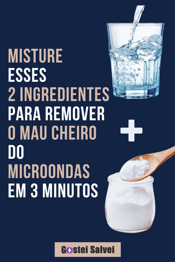 Misture esses 2 ingredientes para REMOVER o mau cheiro do microondas em 3 minutos