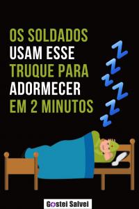 Read more about the article Os soldados usam esse truque para adormecer em 2 minutos