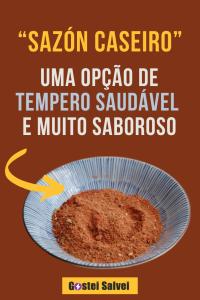 """""""Sazón caseiro"""" – Uma opção de tempero saudável e muito saboroso"""