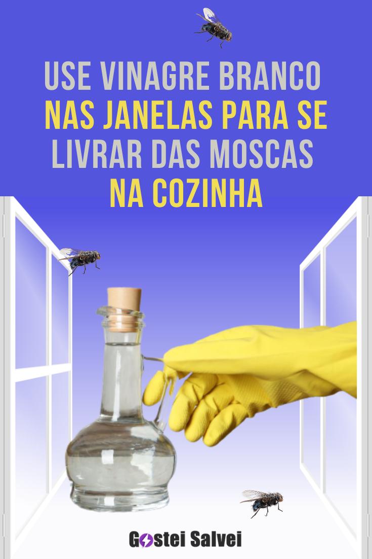 Use vinagre branco nas janelas para se livrar das moscas na cozinha