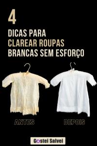 4 Dicas para clarear roupas brancas sem esforço