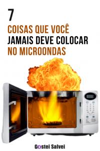 7 Coisas que você JAMAIS deve colocar no microondas