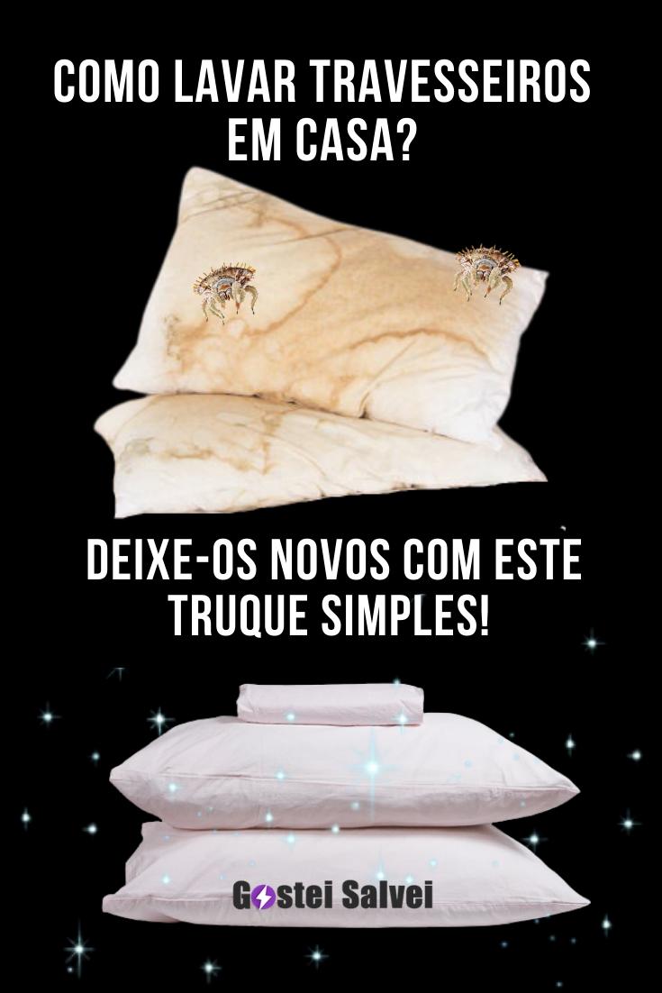 Como lavar travesseiros em casa? Deixe novos com este truque simples!