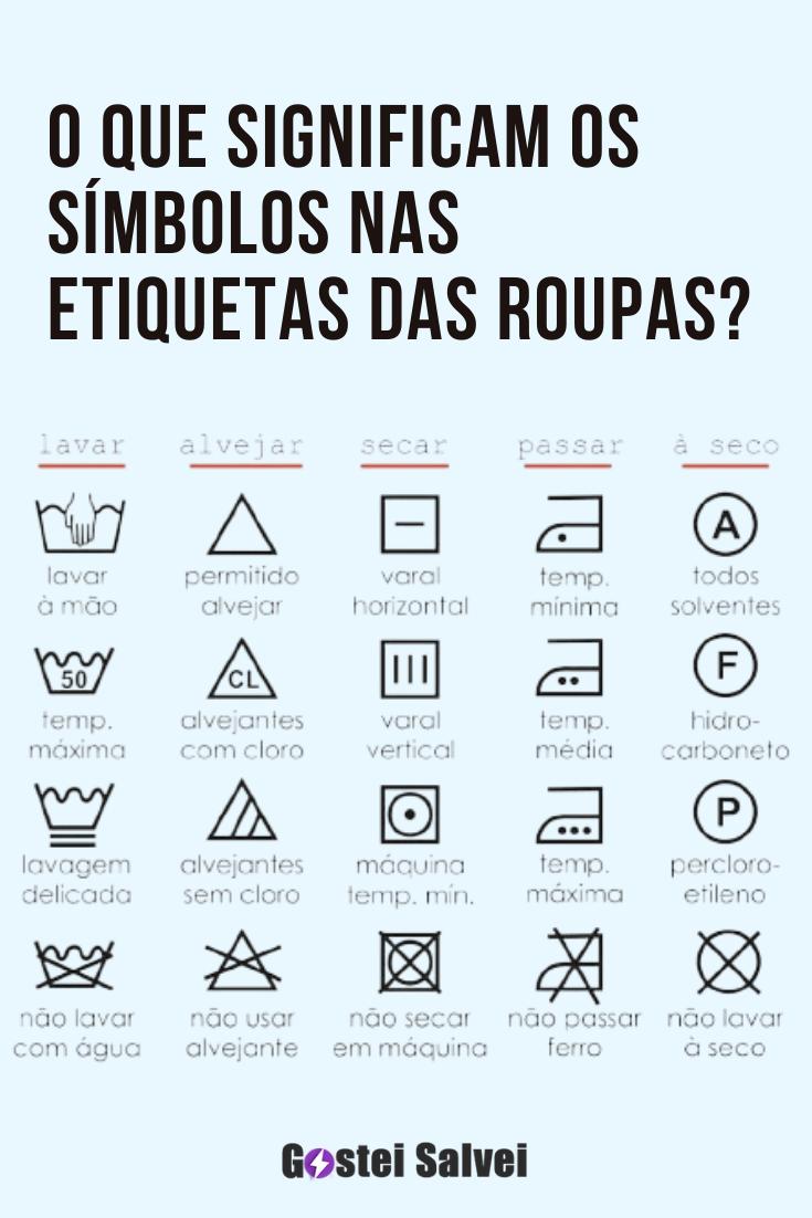 O que significam os símbolos nas etiquetas das roupas?