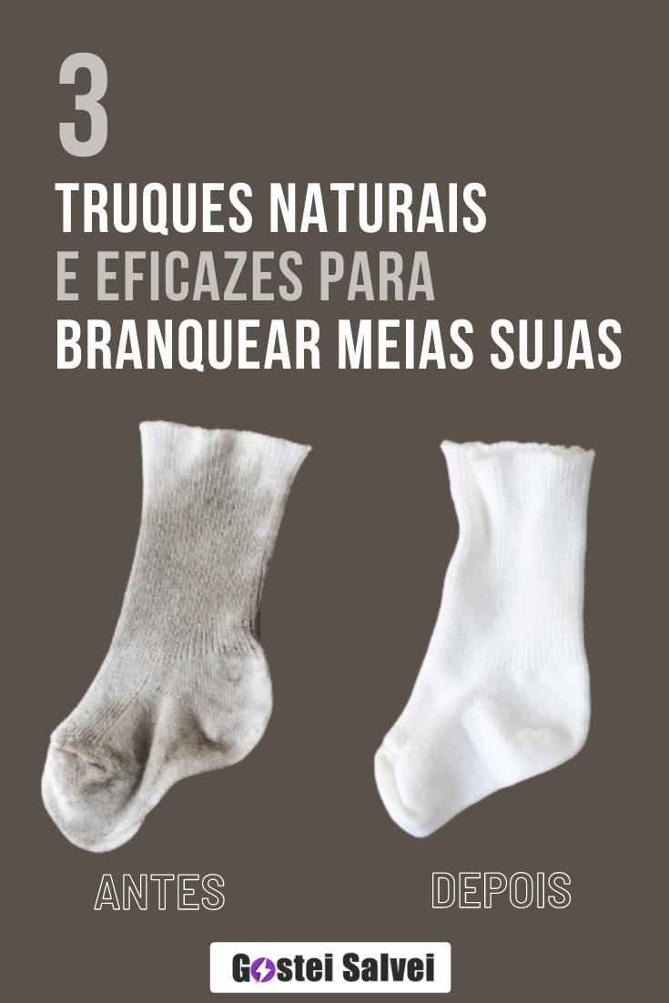3 Truques naturais e eficazes para branquear meias sujas