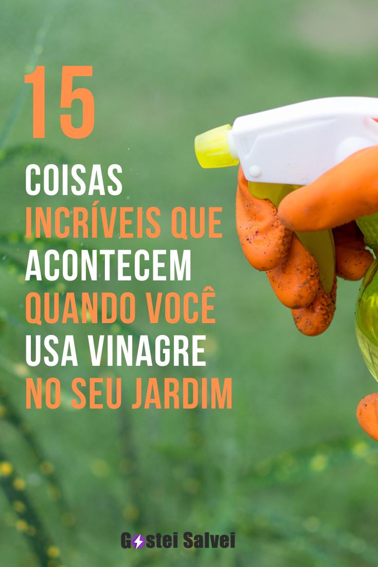 15 Coisas incríveis que acontece quando você usa vinagre no seu jardim