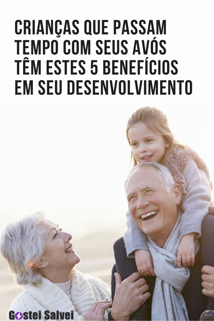 Crianças que passam tempo com seus avós têm estes 5 benefícios em seu desenvolvimento