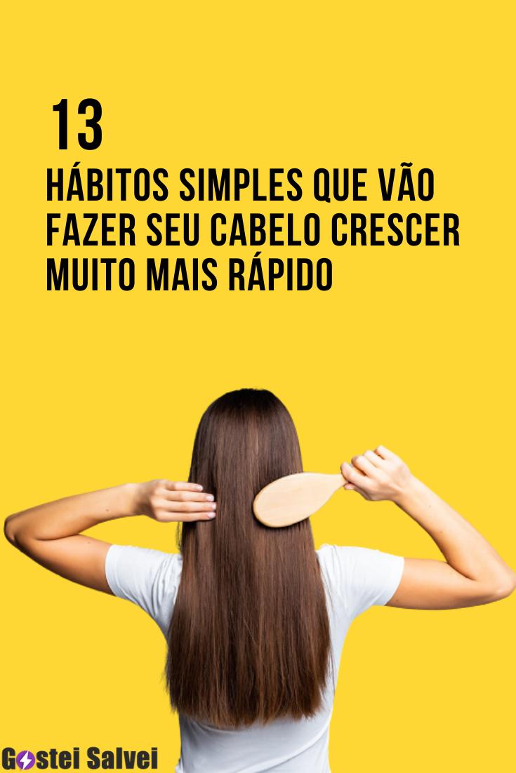 You are currently viewing 13 Hábitos simples que vão fazer seu cabelo crescer muito mais rápido