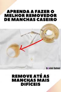 Aprenda a  fazer o melhor removedor de manchas caseiro (Remove até as manchas mais difíceis)